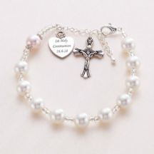 Personalised Rosary Bracelet with Swarovski Pearls